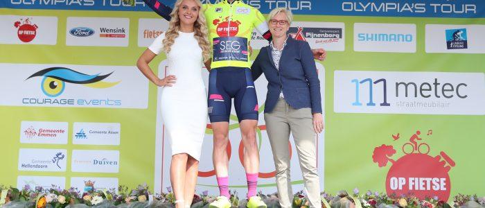 Marten Kooistra wint en leidt in Olympia's Tour